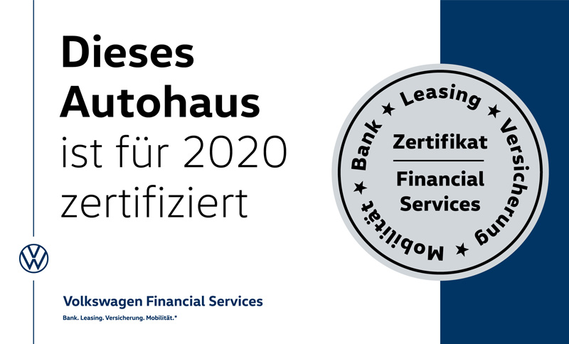 Zertifikat – Volkswagen Financial Services